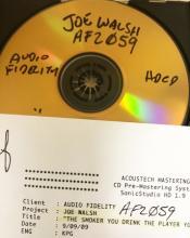 AFZ 059 Joe Walsh 24k CD REF The Smoker
