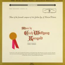 Music by Erich Wolfgang Korngold DCC LP Conducted by Lionel Newman